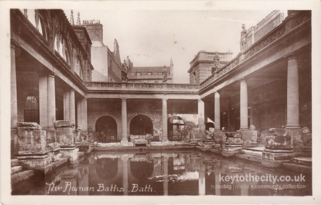 The Roman Baths • Bath Old Postcards • Key to the City™