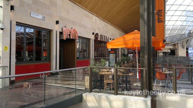 Giraffe cabot circus bristol bristol restaurant key for Food bar giraffe