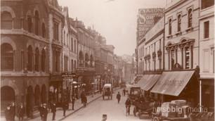 Old Postcard of Duke Street, Cardiff