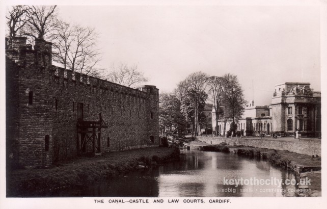 Glamorganshire Canal Cardiff Old Postcards Key To The